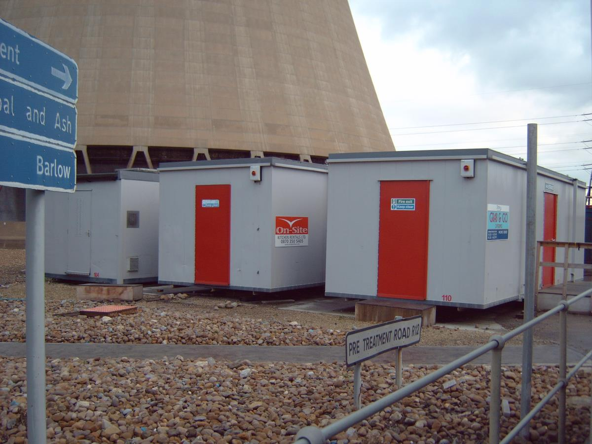 Units catering for 900 contractors over four months during major refurbishment works at Drax Power Station, Yorkshire.