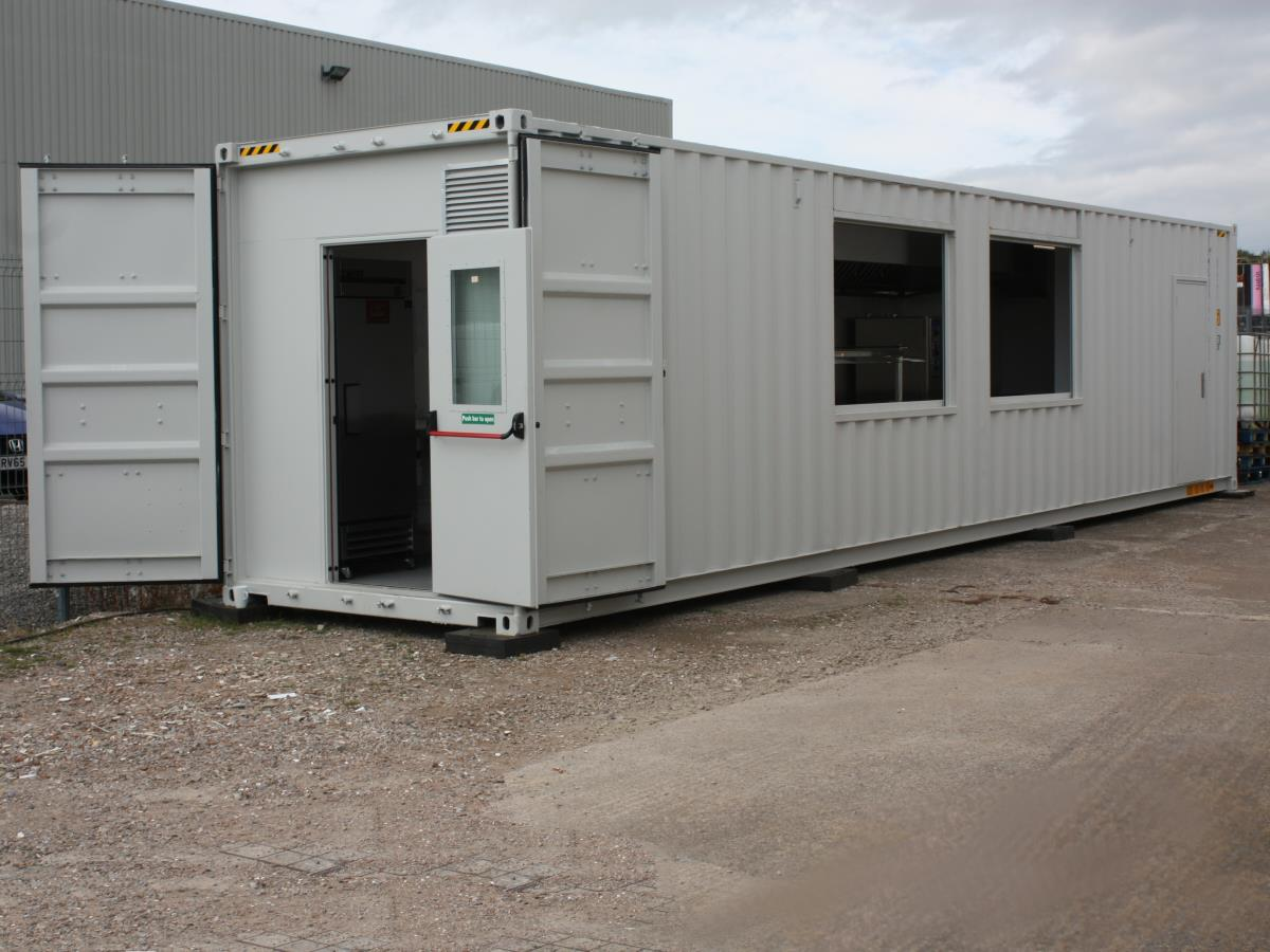 Our shipper container kitchen is great for fast deployment on overseas construction sites.
